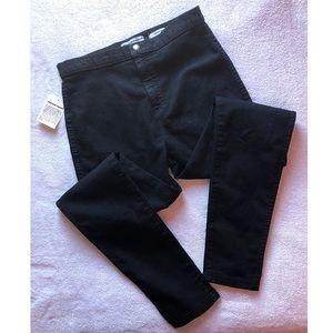 American Apparel Easy High Waist Skinny Black Jean